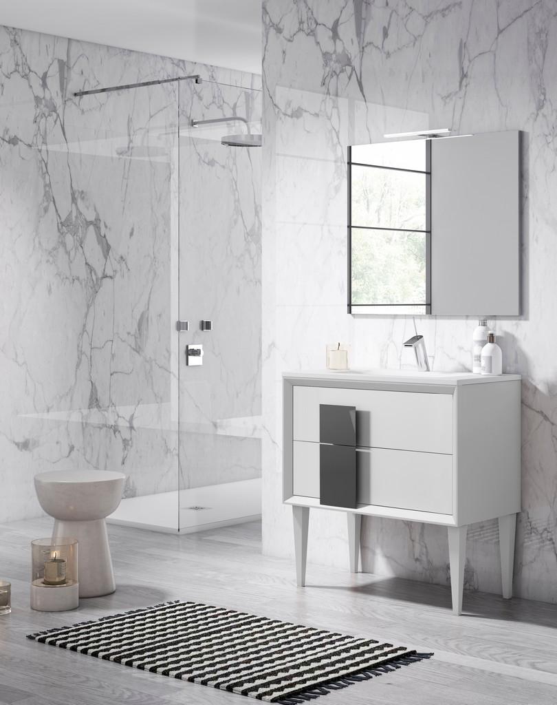 "24"" White and Grey Cristal Freestanding Vanity - Lucena Bath 43041-01/grey"
