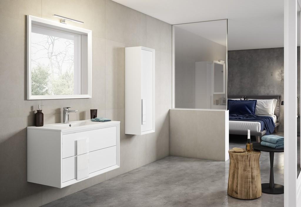 "40"" White Decor Cristal Vanity - Lucena Bath 4312"