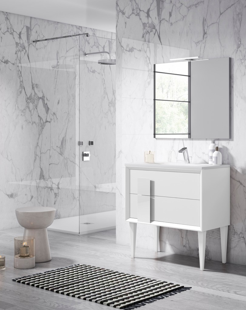 "40"" White Decor Cristal Freestanding Vanity - Lucena Bath 43121"