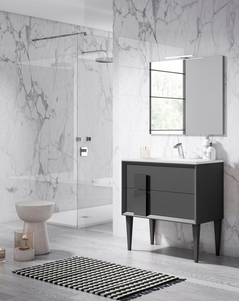 "40"" Grey Cristal Freestanding Vanity - Lucena Bath 43171"