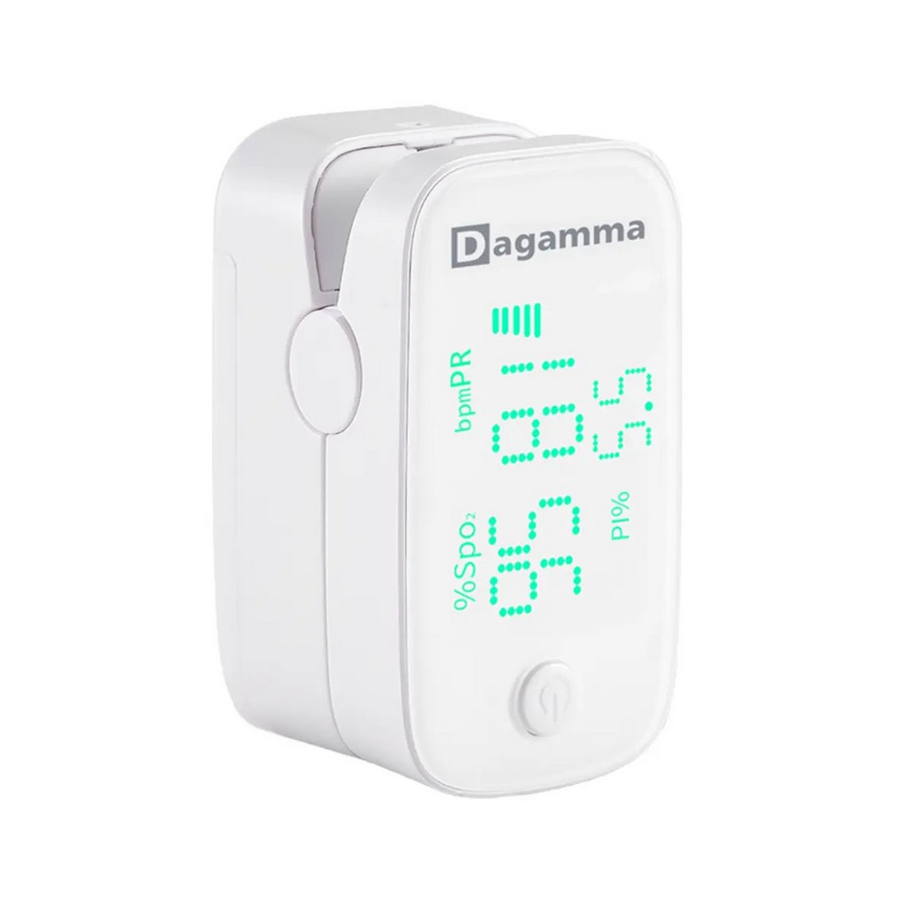 DP250 Premium Finger Pulse Oximeter with User Configurable Audio SpO2 and Heart Rate Alarm, White - DE2700402