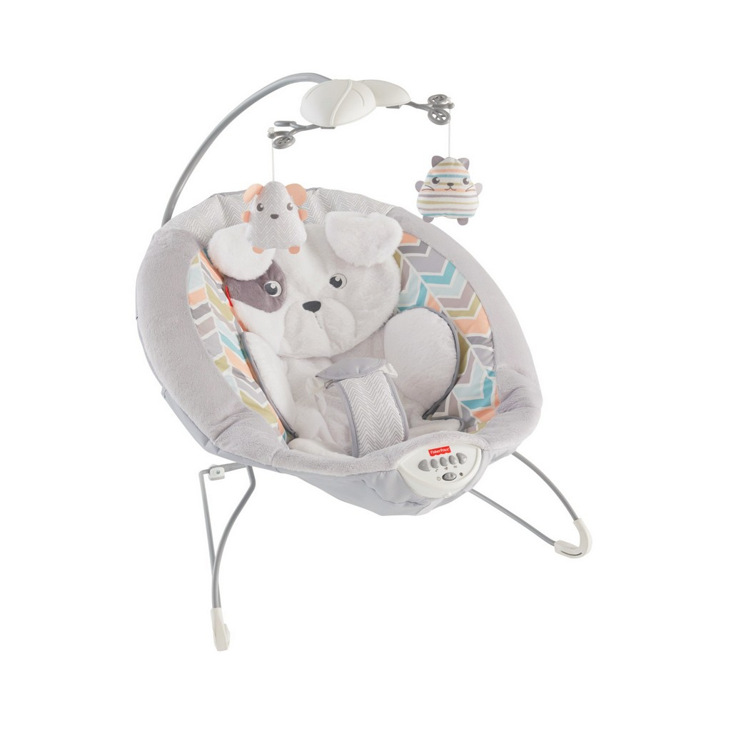 My Little Snugapuppy Deluxe Bouncer White - Fisher-Price FPDTH04