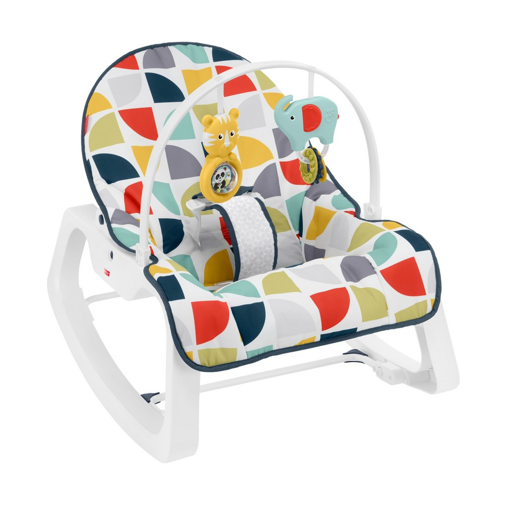 Deluxe Infant-To-Toddler Rocker - Colorful Pinwheels - Fisher-Price FPGDP60
