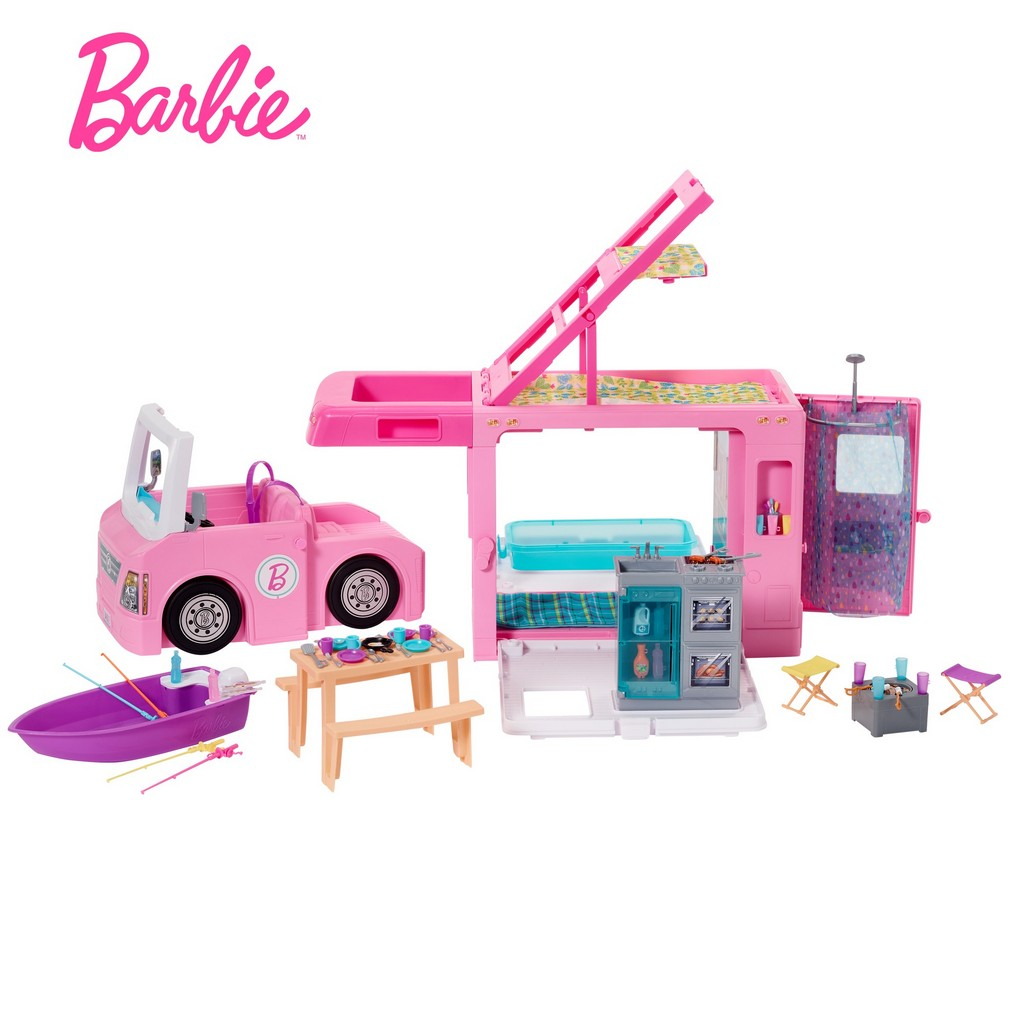 Barbie 3-in-1 DreamCamper Vehicle and Accessories - Mattel MTGHL93