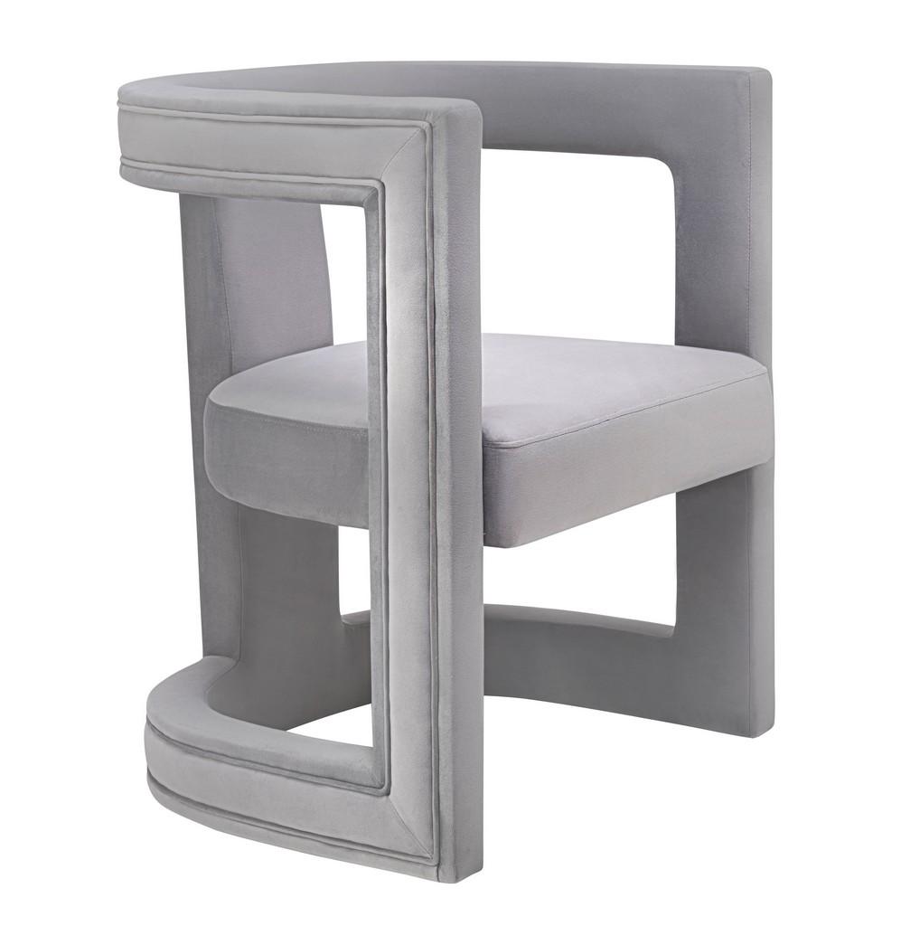 Ada Grey Velvet Chair - TOV Furniture TOV-A208