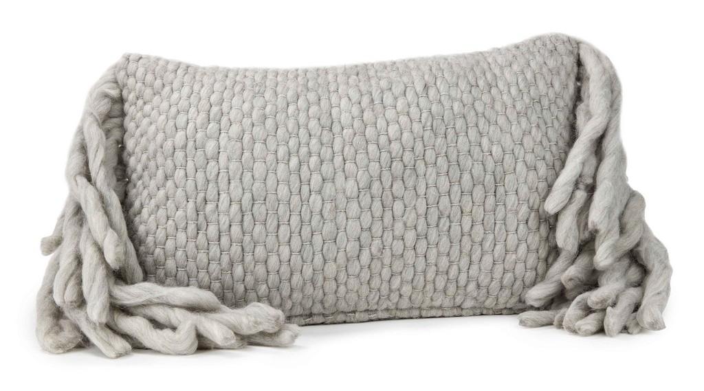 Afrino Wool Grey Pillow - TOV Furniture TOV-C18188