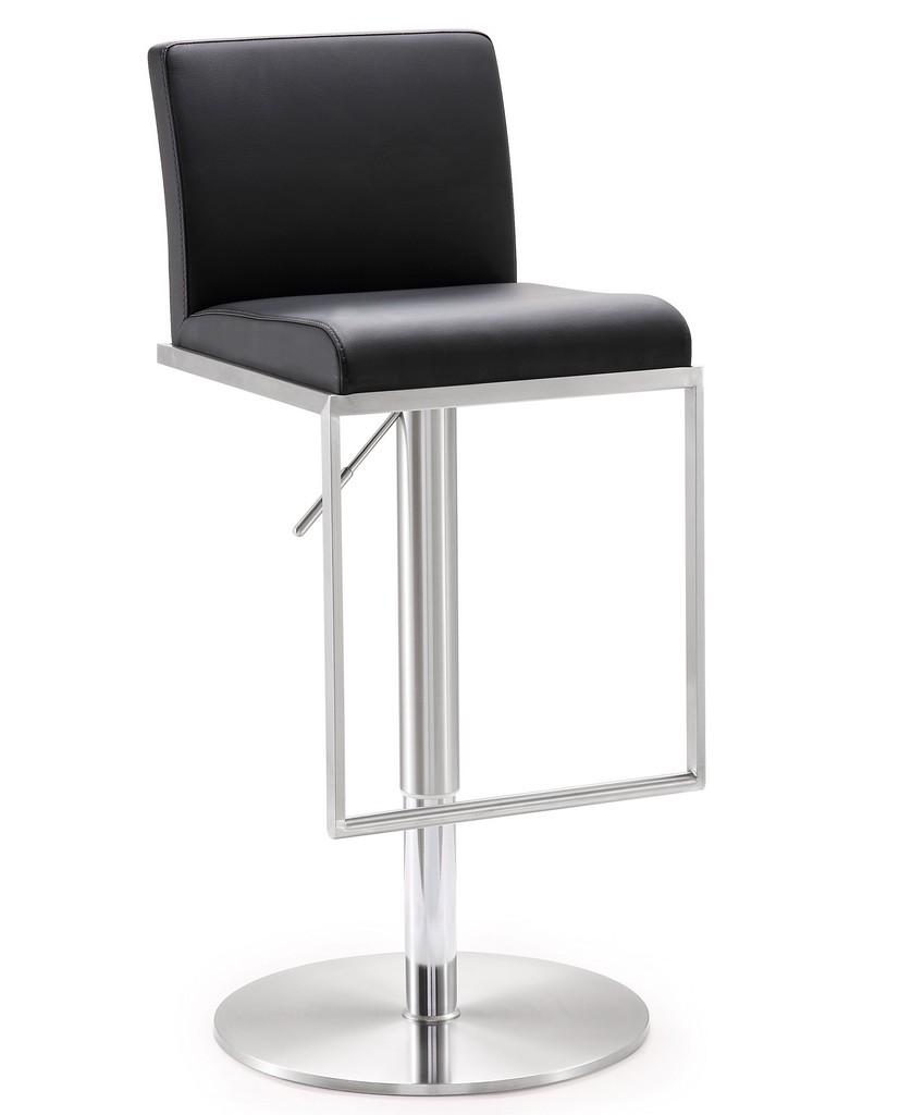 Amalfi Black Stainless Steel Adjustable Barstool - TOV Furniture TOV-K3615