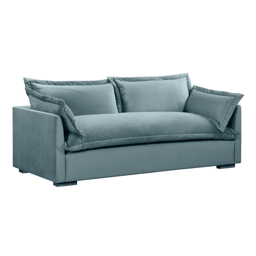 Tov Freya Bluestone Velvet Sofa