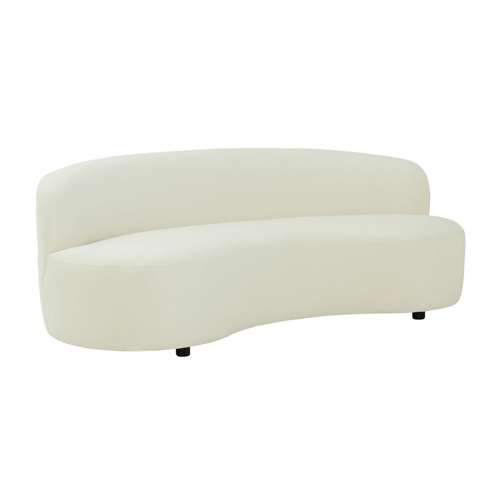 Tov Cannellini Cream Velvet Sofa