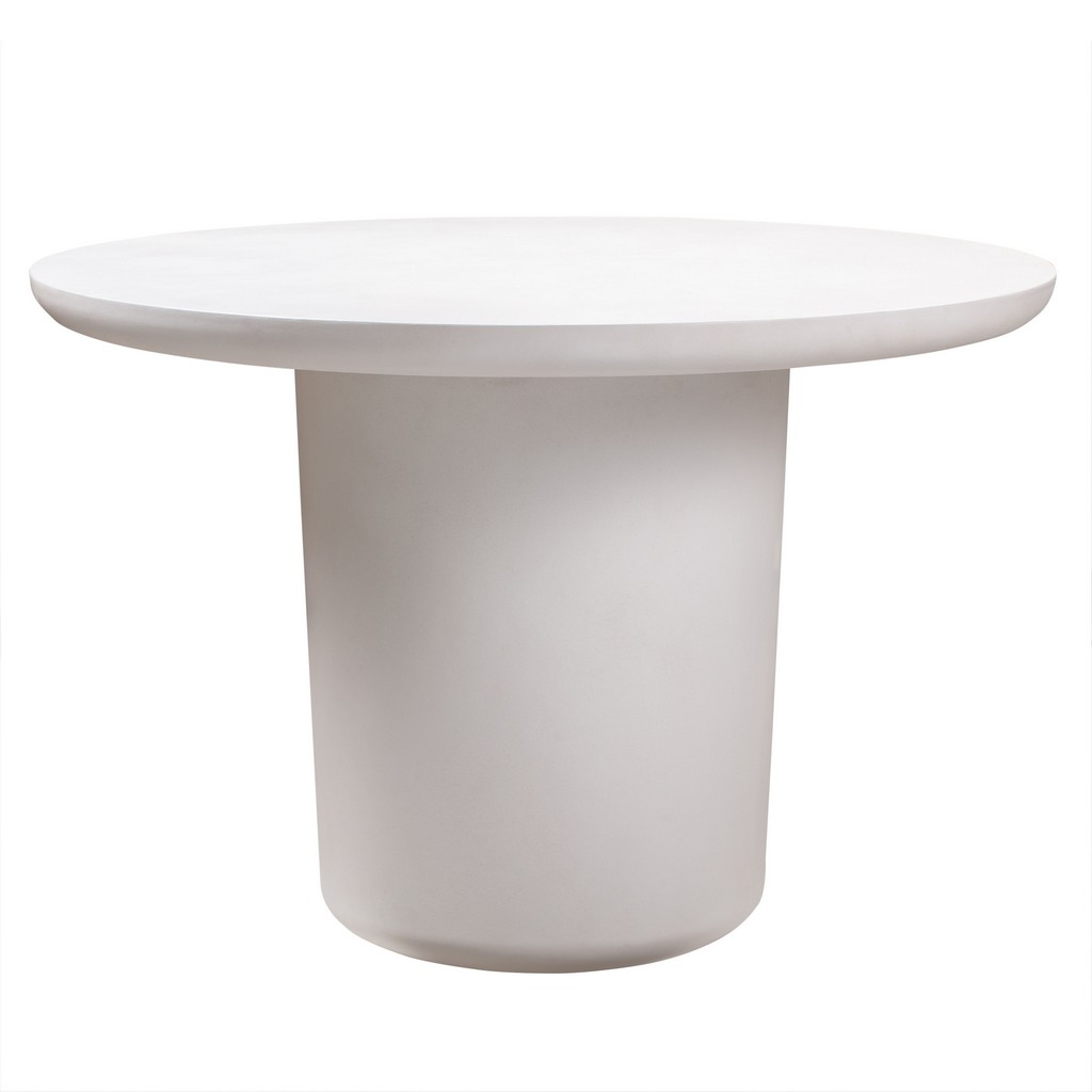 Tov Roxie Ivory Concrete Dining Table