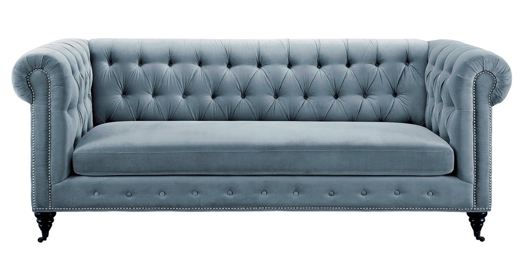 Tov Hanny Grey Velvet Sofa