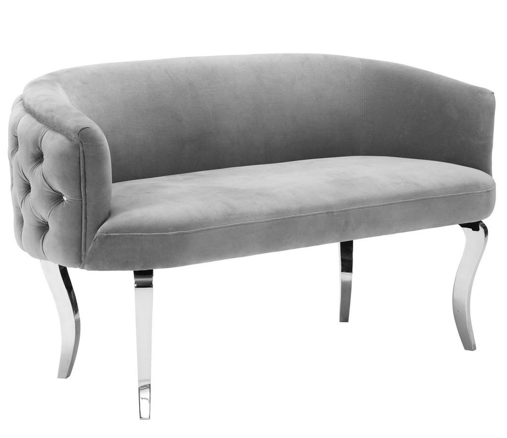 Adina Grey Velvet Loveseat - TOV Furniture TOV-S73