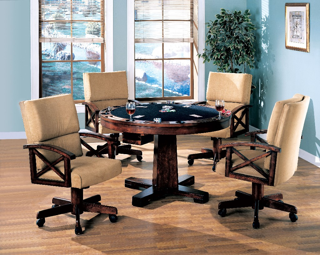 Coaster Dining Game Table Chairs