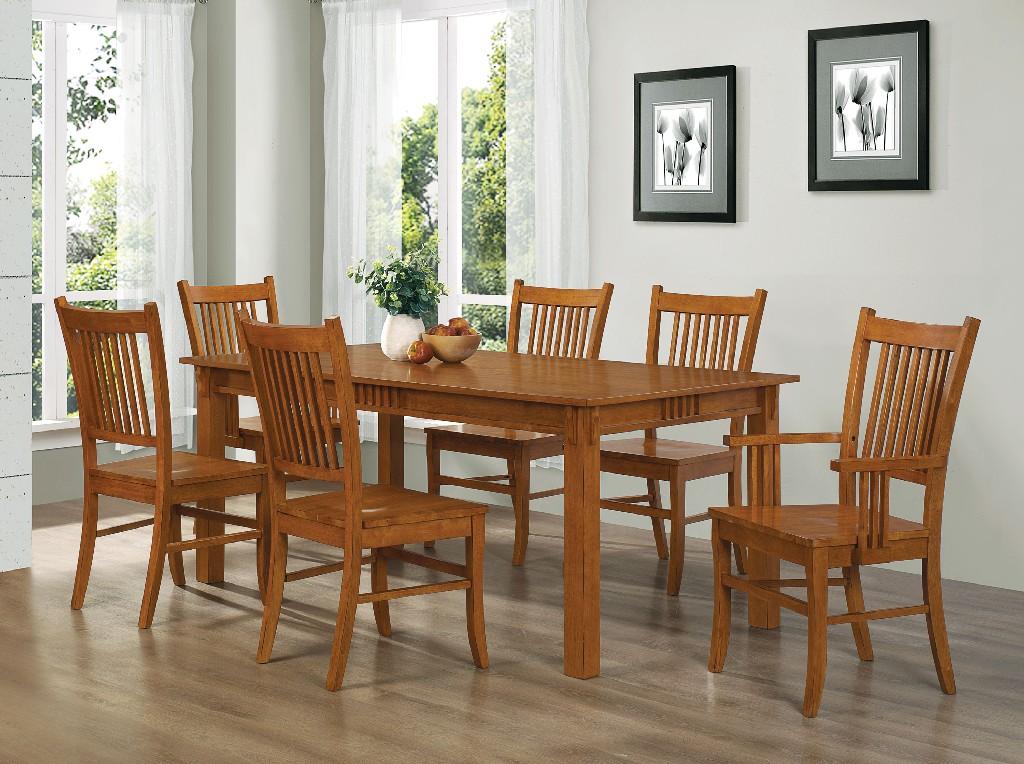 Marbrisa Oak Seven Dining Set