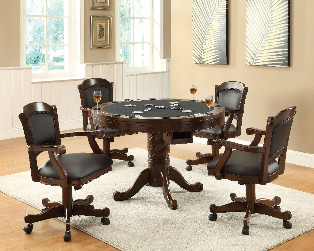 Coaster Turk Casual Game Table Arm Chair Set