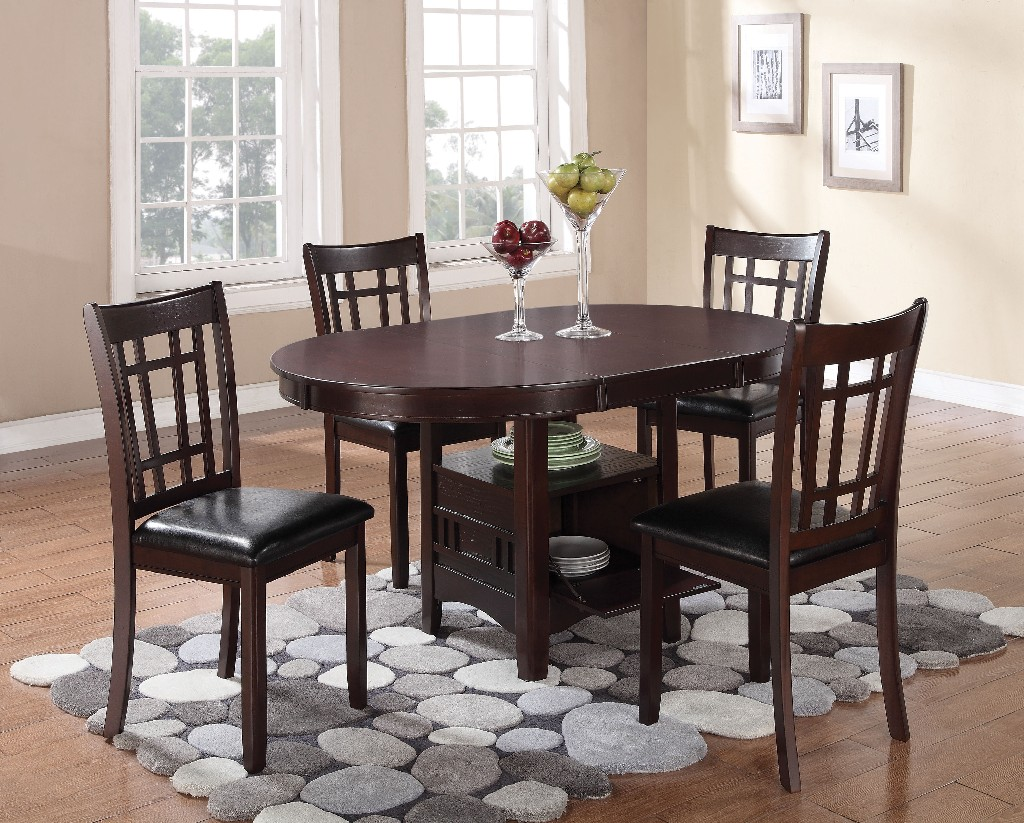 Coaster Lavon Transitional Espresso Five Dining Set