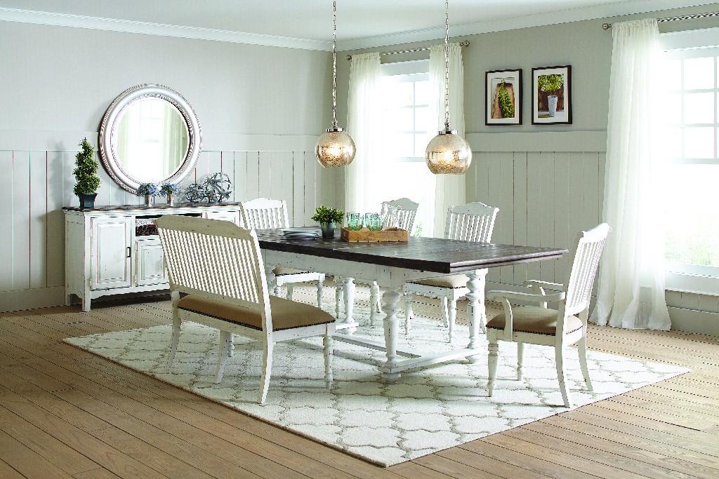 Vintage White Rectangular Dining Table