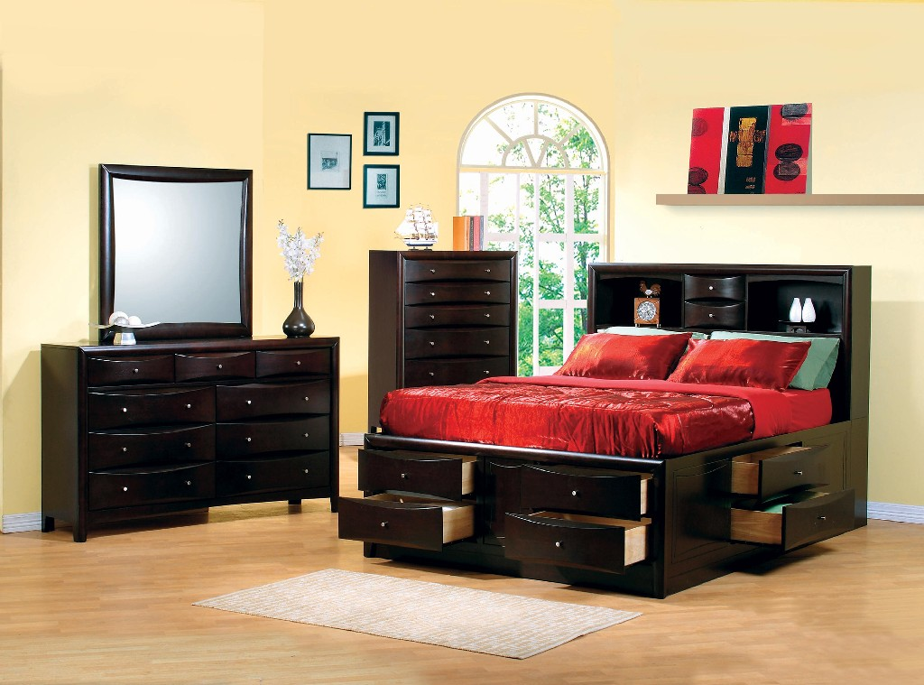Coaster Cappuccino California King Four Bedroom Set