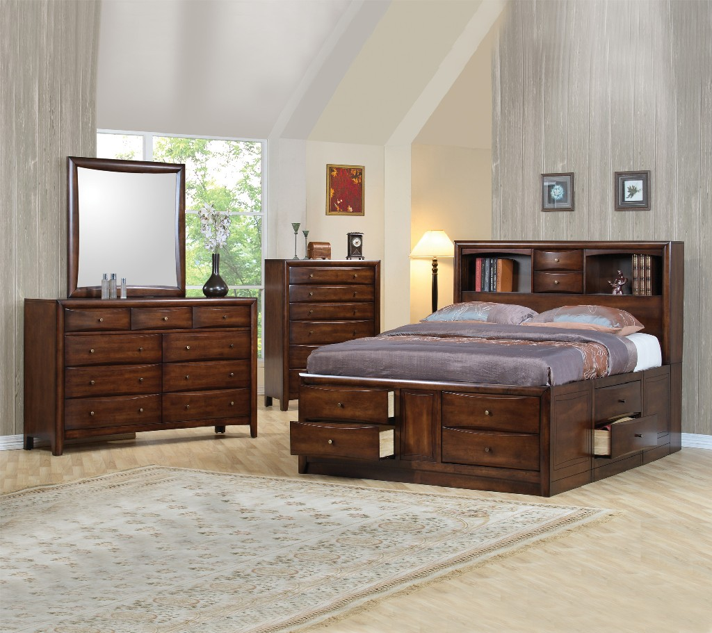 Coaster Hillary Scottsdale Cappuccino California King Four Bedroom Set