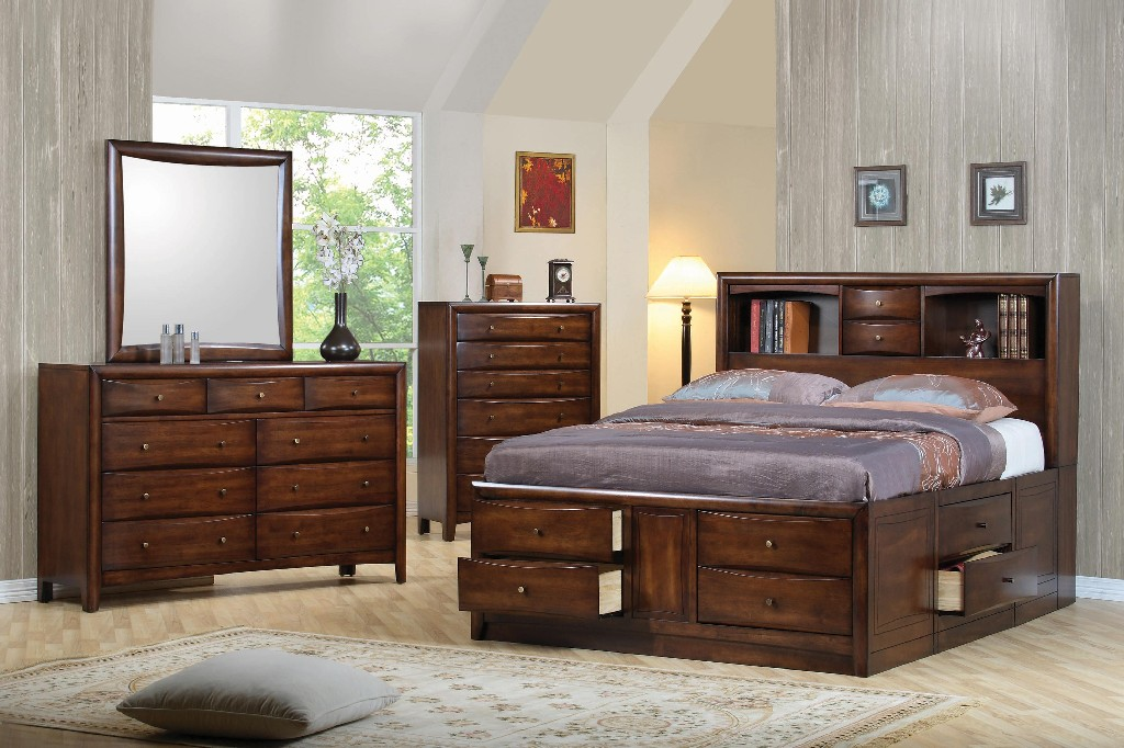 Coaster Hillary Scottsdale Cappuccino California King Five Bedroom Set