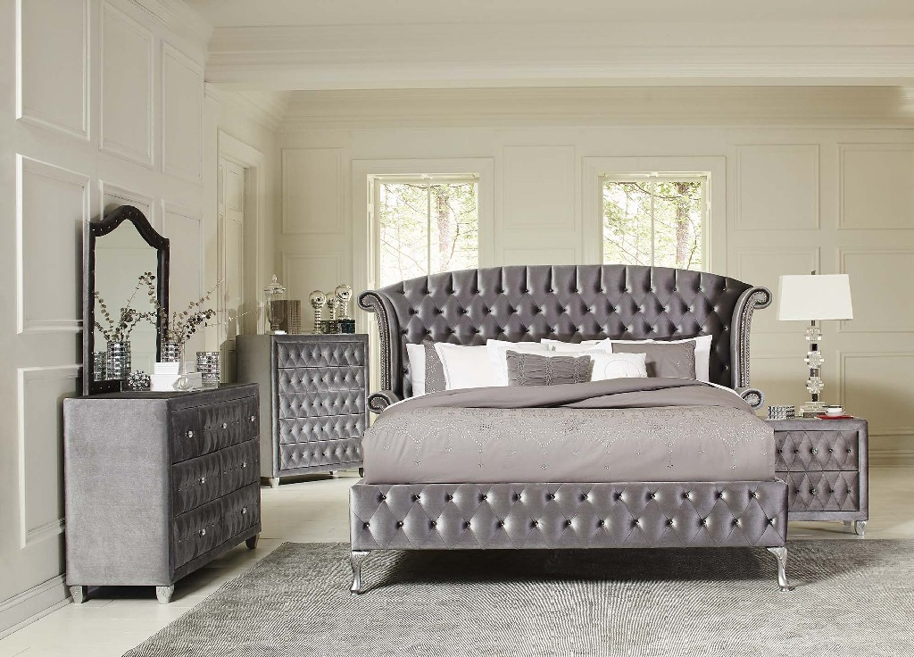 Metallic California King Bed