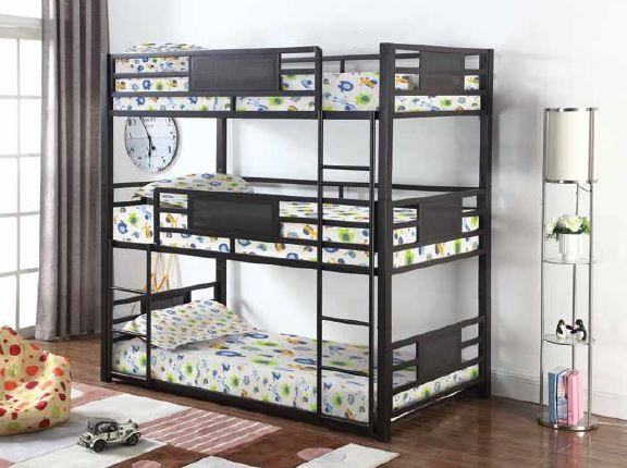 Coaster Twin Triple Bunk Bed