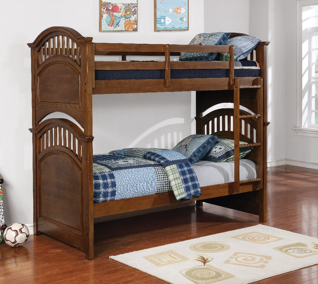 Coaster Halsted Casual Walnut Twin Over Full Bunk Bed