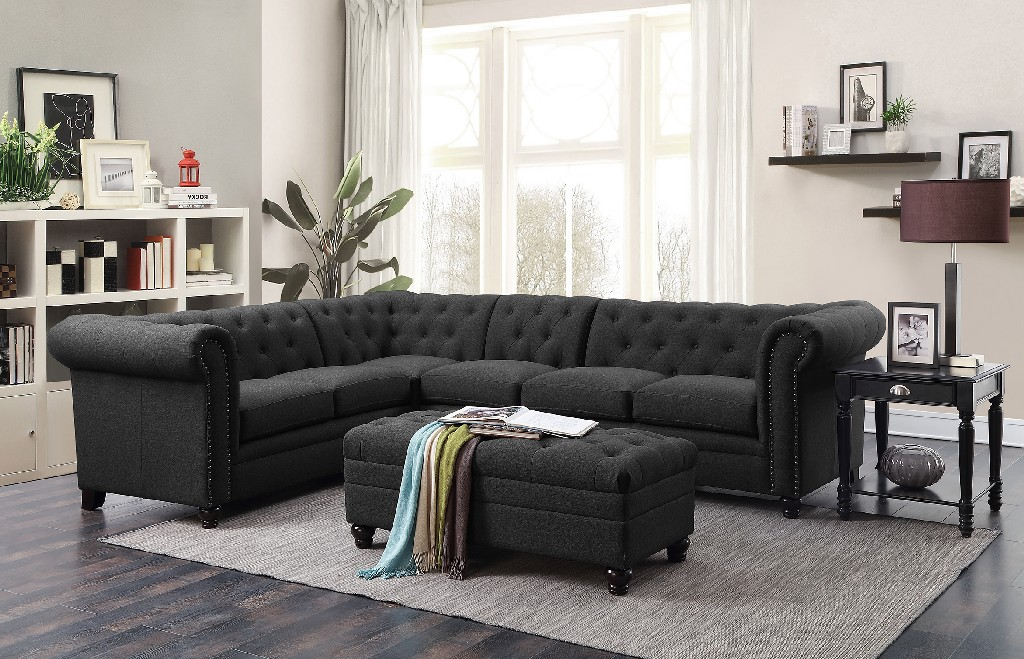 Coaster Traditional Grey Sectional