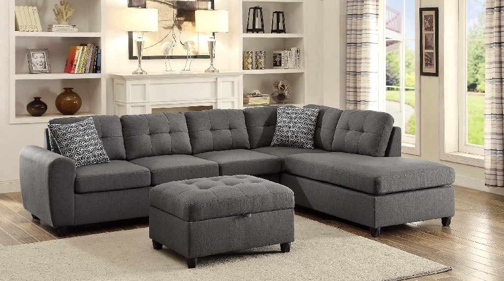 Coaster Stonenesse Contemporary Grey Sectional