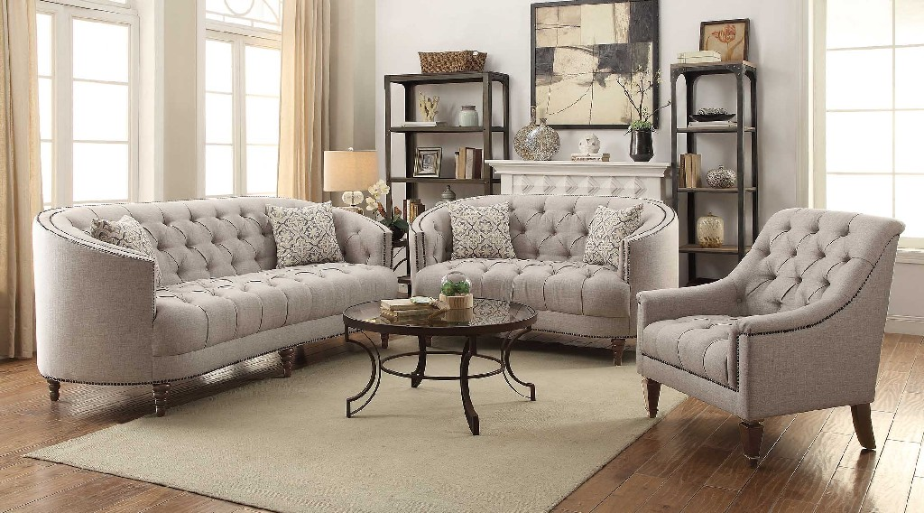 Traditional Beige Sofa