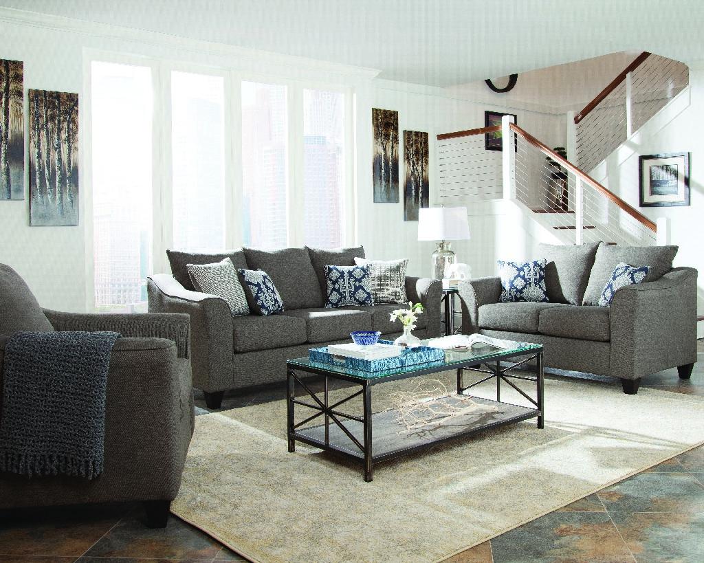 Coaster Salizar Transitional Grey Three Living Room Set