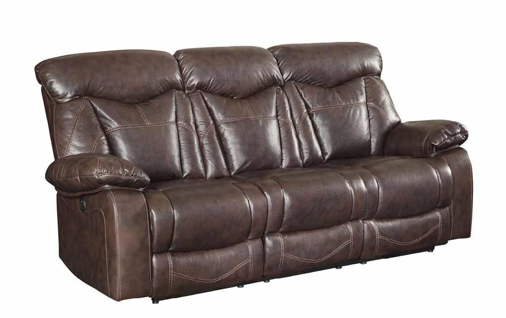 Coaster Dark Brown Power Leather Reclining Sofa