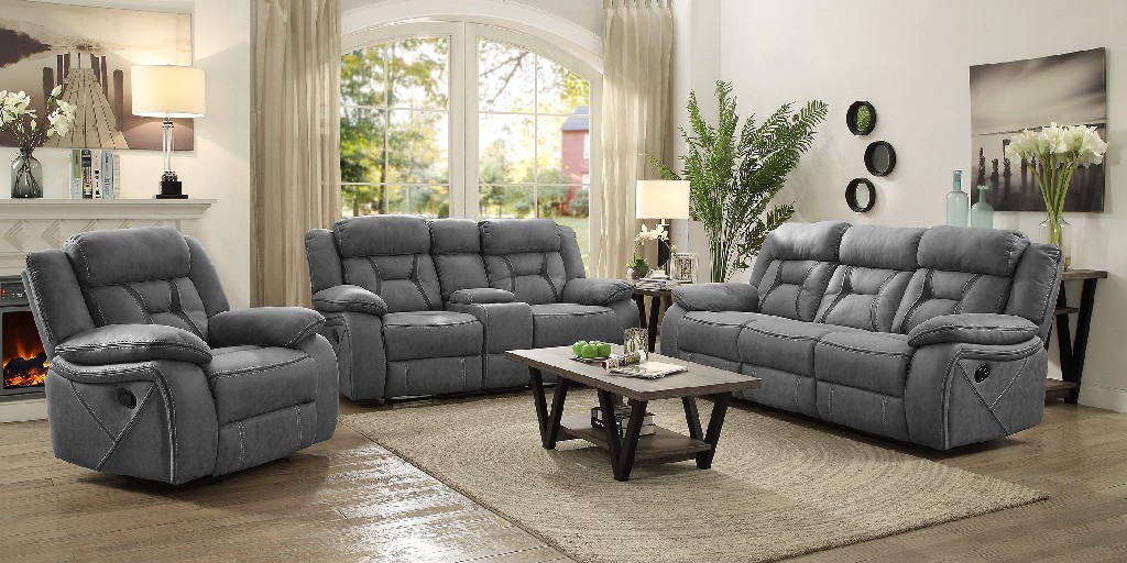 Coaster Houston Casual Stone Motion Sofa