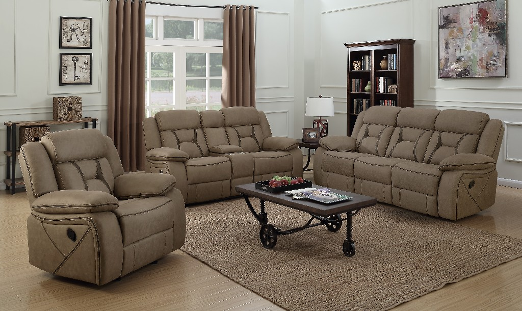 Coaster Houston Casual Tan Motion Sofa