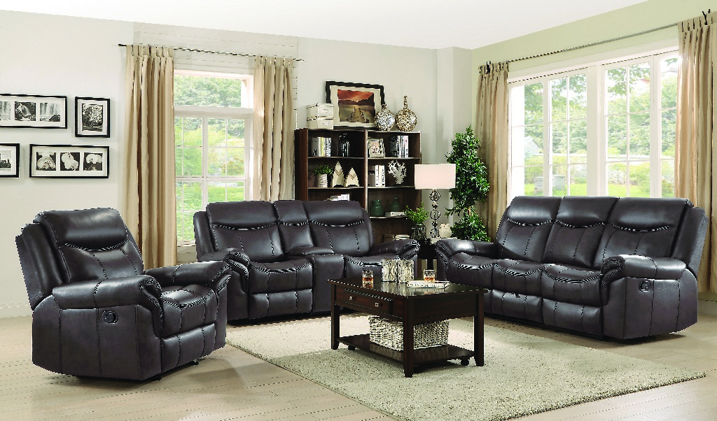 Transitional Brown Three Living Room Set