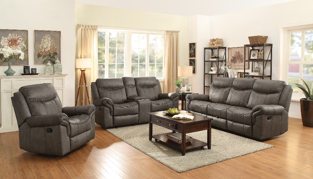 Transitional Light Brown Two Living Room Set