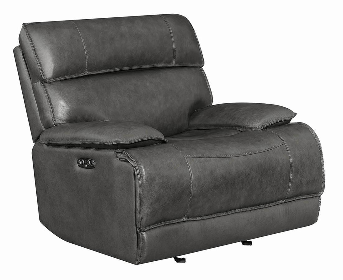 Coaster Stanford Charcoal Power Glider Recliner