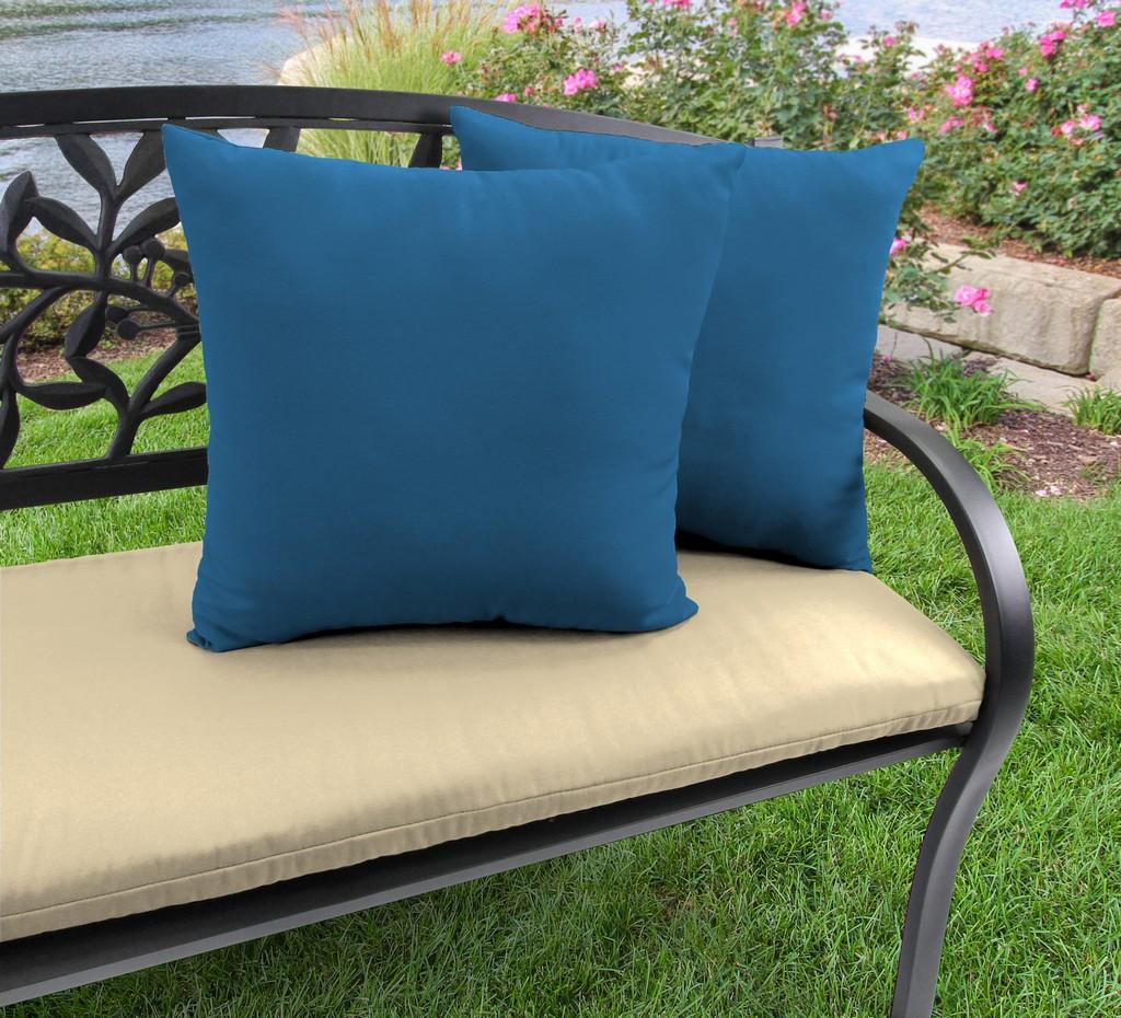 "20"" Outdoor Accessory Throw Pillows, Set of 2- Sunbrella CAVAS REGATTA GLEN RAVEN - Jordan Manufacturing 9972PK2-3740H"