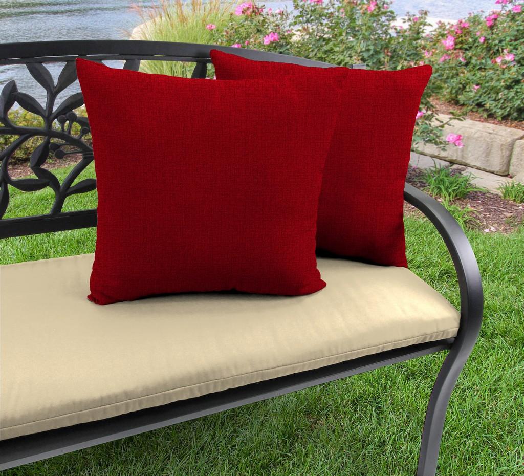 "20"" Outdoor Accessory Throw Pillows, Set of 2-MCHUSK BERRY RICHLOOM - Jordan Manufacturing 9972PK2-5511D"