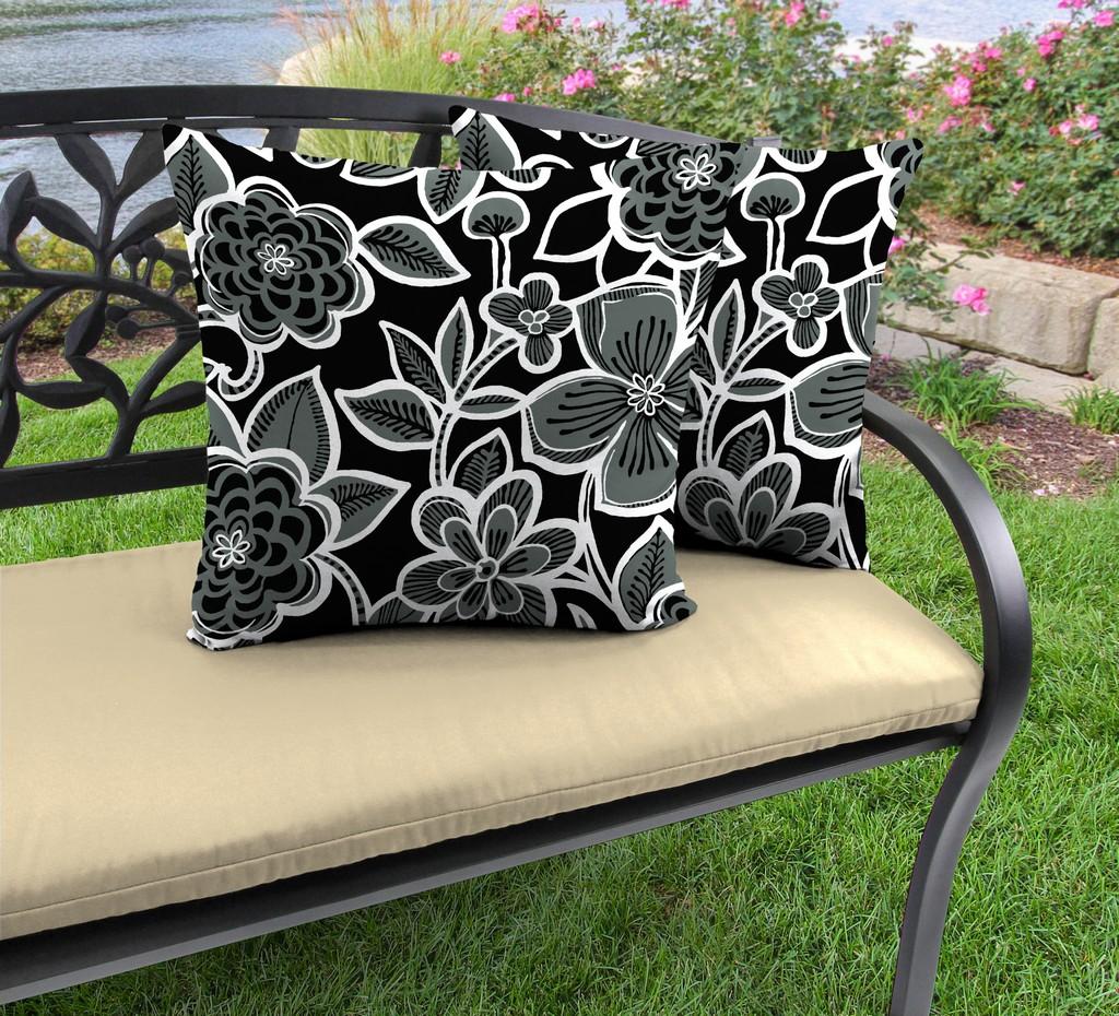 "20"" Outdoor Accessory Throw Pillows, Set of 2-HALSEY SHADOW RICHLOOM - Jordan Manufacturing 9972PK2-5898D"