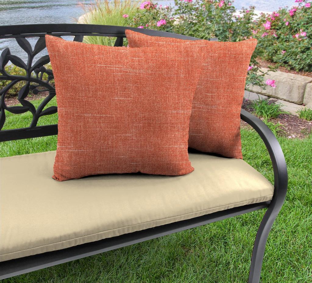 "20"" Outdoor Accessory Throw Pillows, Set of 2-TORY SUNSET RICHLOOM - Jordan Manufacturing 9972PK2-5957D"