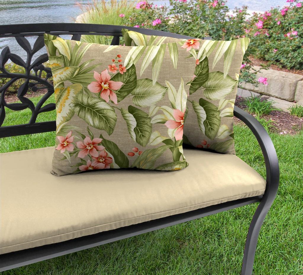 "20"" Outdoor Accessory Throw Pillows, Set of 2-TAHITI SUNRISE RICHLOOM - Jordan Manufacturing 9972PK2-6225D"