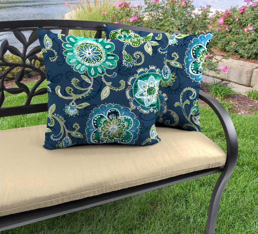 "20"" Outdoor Accessory Throw Pillows, Set of 2-FANFARE CAPRI RICHLOOM - Jordan Manufacturing 9972PK2-6617D"