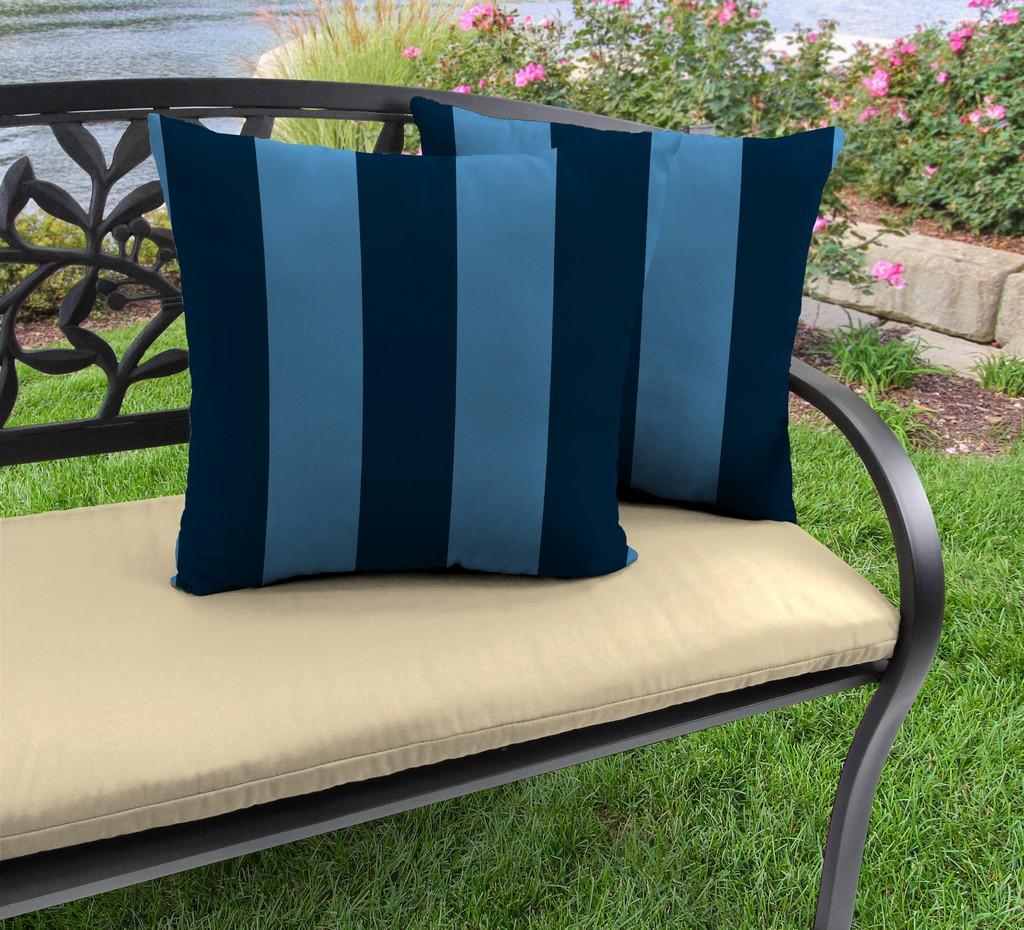 "20"" Outdoor Accessory Throw Pillows, Set of 2-PREVIEW CAPRI RICHLOOM - Jordan Manufacturing 9972PK2-6635D"