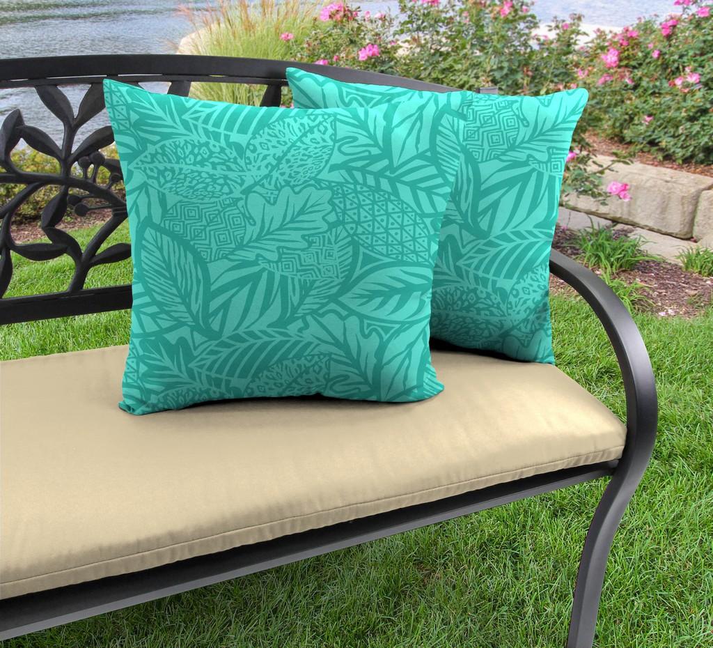 "20"" Outdoor Accessory Throw Pillows, Set of 2-MAVEN LAGOON RICHLOOM - Jordan Manufacturing 9972PK2-6638D"