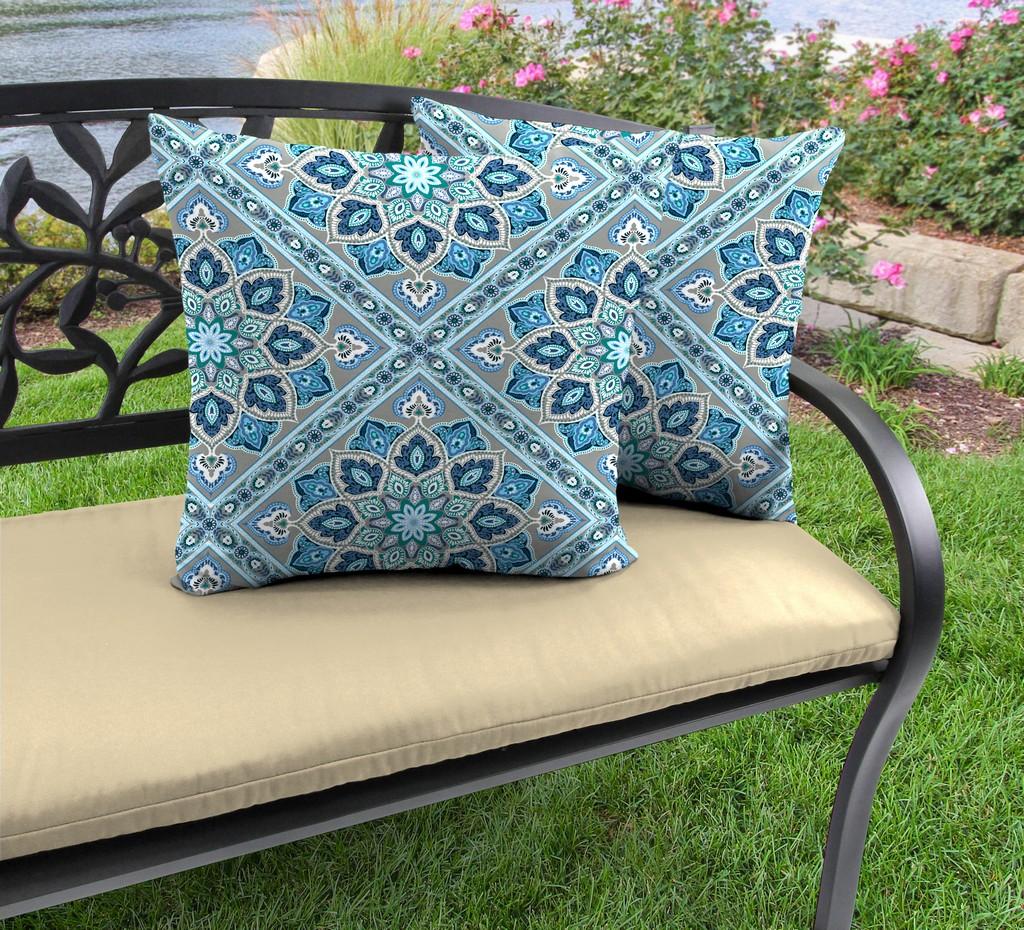 "20"" Outdoor Accessory Throw Pillows, Set of 2-MEDLO BAY RICHLOOM - Jordan Manufacturing 9972PK2-6640D"