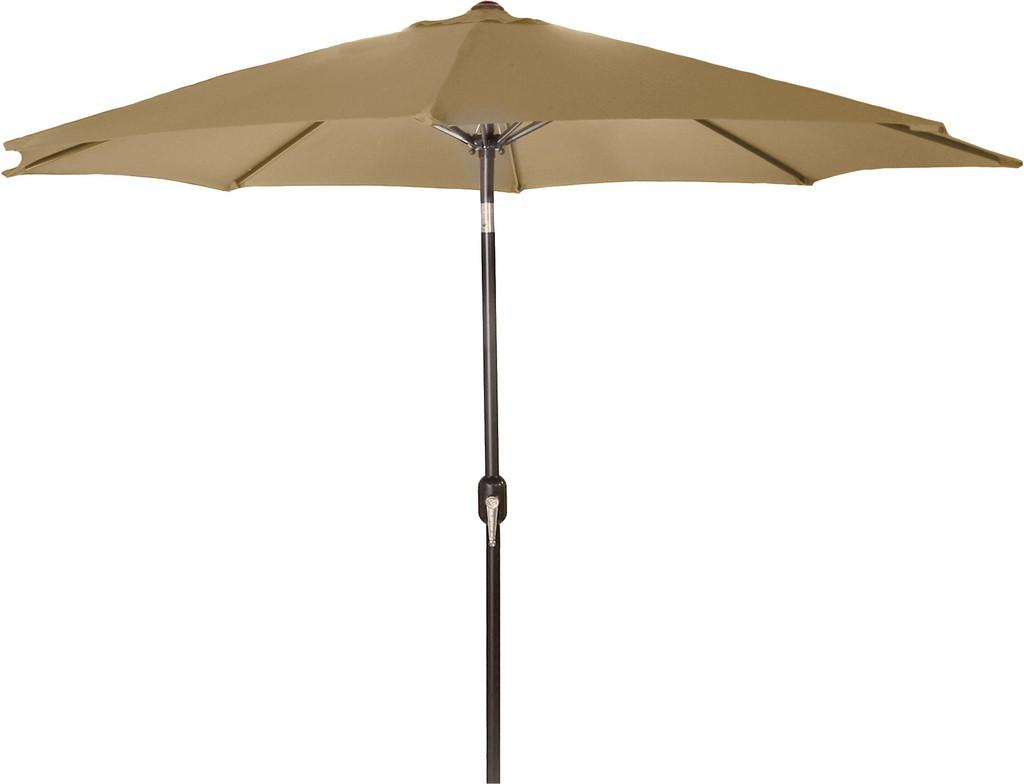 9Ft Steel Market Umbrella In Khaki - Jordan Manufacturing US904L-KHAKI