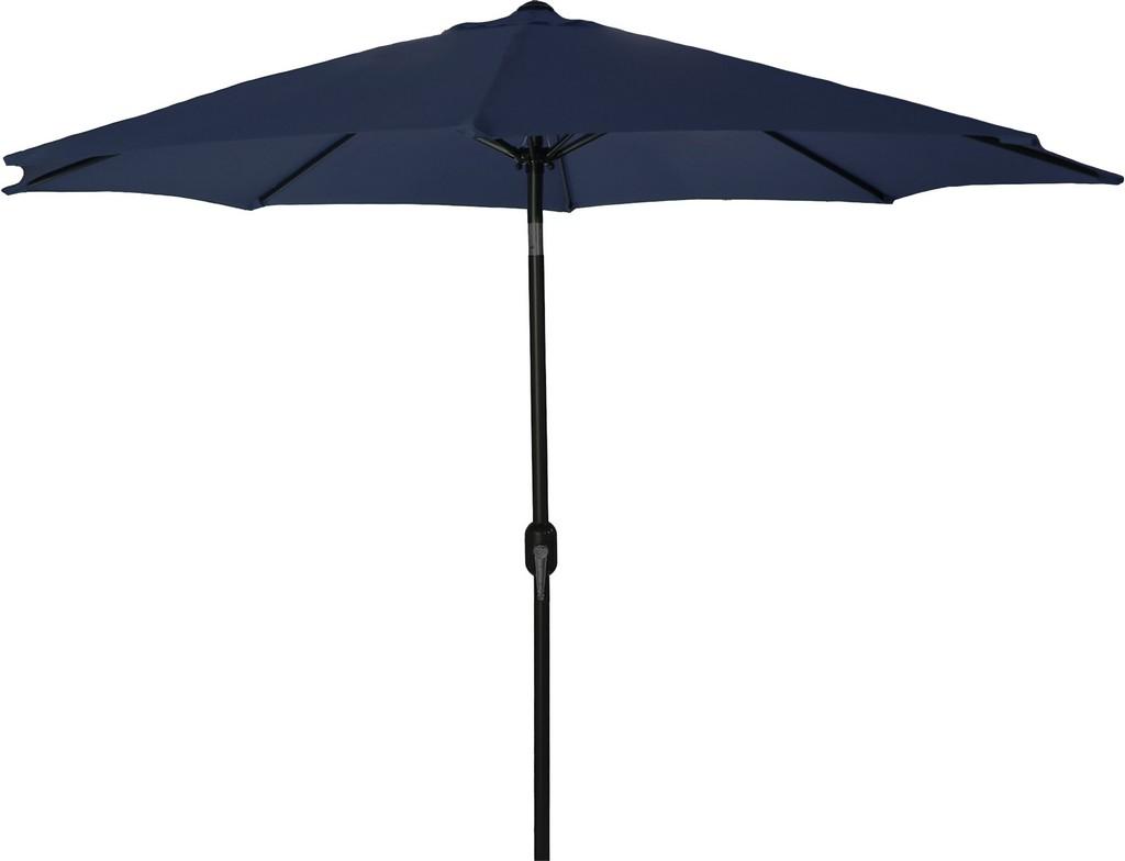 9Ft Steel Market Umbrella In Navy - Jordan Manufacturing US904L-NAVY