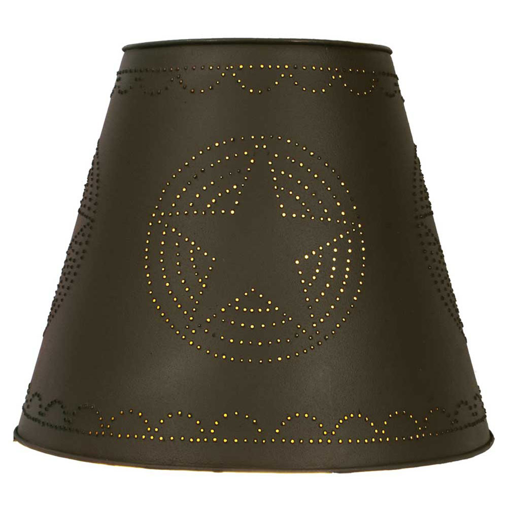 8X15X12 Star Tin Washer Top Lamp Shade - Rustic Brown - CTW Home Collection 220054