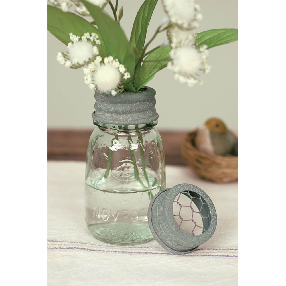 1/4 Pint Mason Jar Flower Frog - Box of 4 - CTW Home Collection 360293T